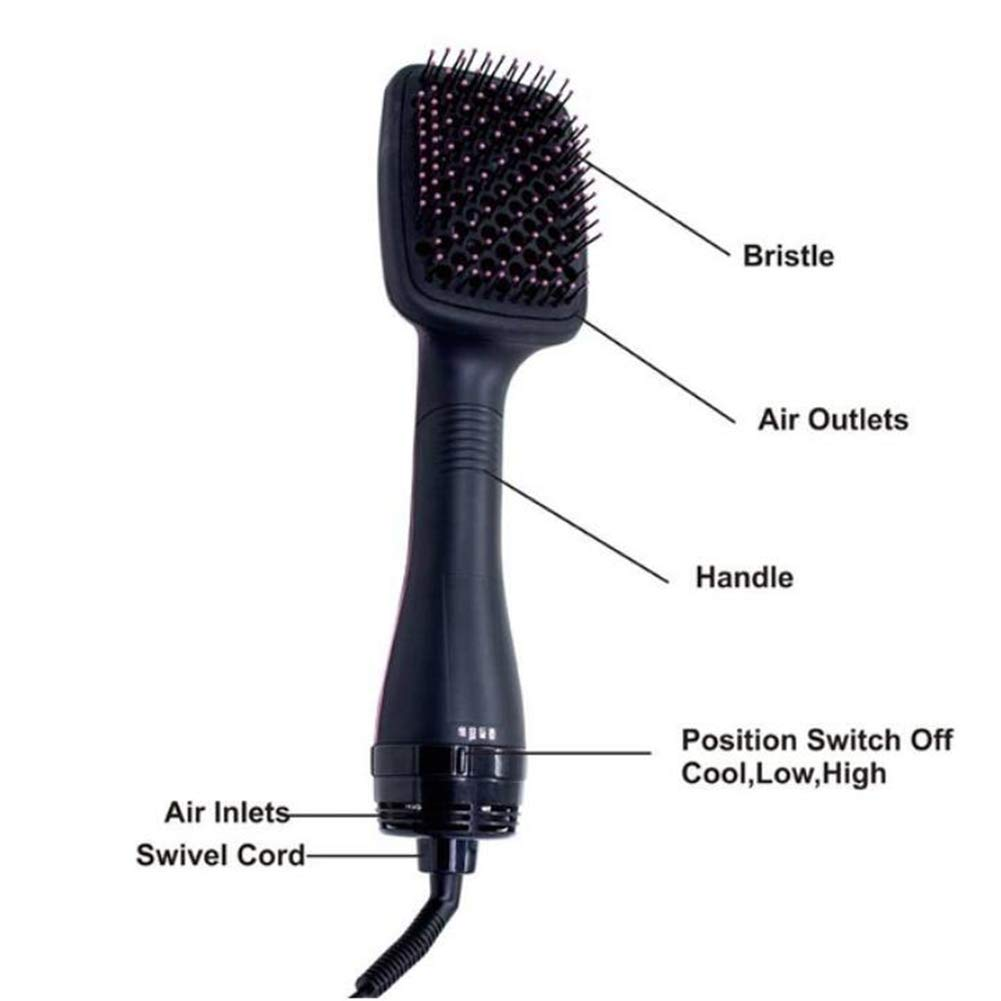 Amazon.com: JASZHAO Hair Dryer Brush Blower Straightener Hair Comb Negative Ionic Electric Hot Air Brush: Home & Kitchen