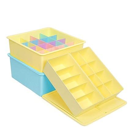 Cajas de almacenaje Caja de almacenamiento de ropa interior Caja de almacenamiento de cajón de plástico
