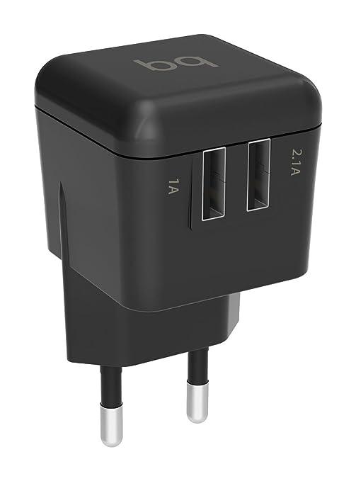 Bq Cargador Dual USB 3.1 A , negro