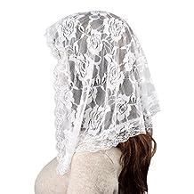 White Veil Lace Mantilla Catholic Church Chapel Veil Head Covering Latin Mass