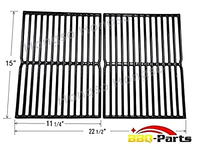 Hongso PCG522 Porcelain Coated Cast Iron Cooking Grid Replacement for Weber Spirit 200 series, Spirit 500, Genesis Silver A, Set of 2 (Aftermarket Replacements) from Hongso