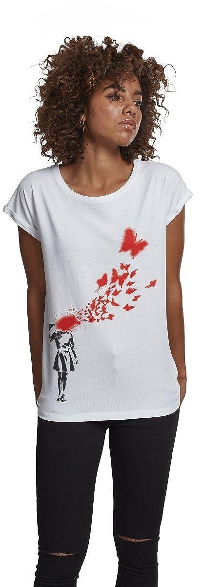 TALLA M. Merchcode Mujeres Camisetas Ladies Banksy