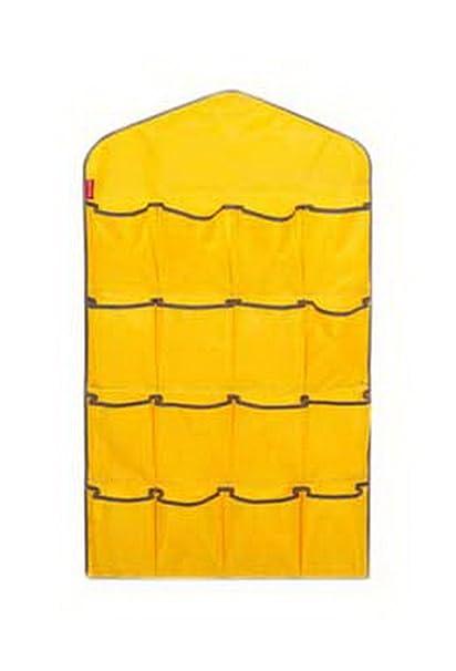 Koala Superstore Lencería de Armario de 16 Bolsillos Colgante Organizador Colgante Calcetines Almacenamiento más Grande Amarillo