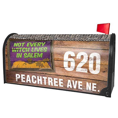 NEONBLOND Custom Mailbox Cover Not Every Witch Lives in Salem Halloween Pumpkin Top