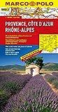 MARCO POLO Karte Provence, Cote d Azur, Phone-Alpes (MARCO POLO Karten 1:300.000)
