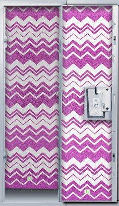 LockerLookz Locker Wallpaper - Pink Chevron