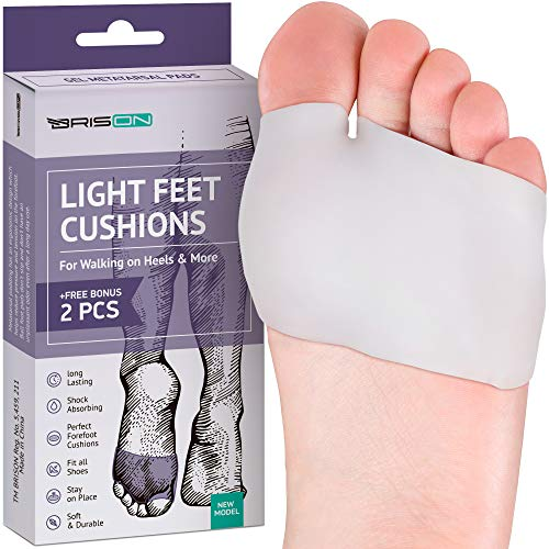 Metatarsal Pads Ball of Foot Cushions - Soft Gel Ball of Foot Pads - Mortons Neuroma Callus Metatarsal Foot Pain Relief Bunion Forefoot Cushioning Relief Women Men - Metatarsal Foot Pain