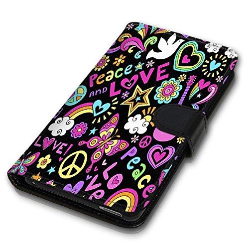 Wallet Book Style Flip Handy Tasche Case Schutz Hülle Schale Motiv Etui für Apple iPhone 5 / 5S - Design Flip MVD343