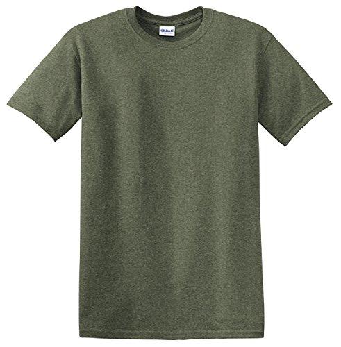 Gildan - Heavy Cotton T-Shirt - 5000 - Heather Military Green - Medium (Gildan Jersey Heavyweight)