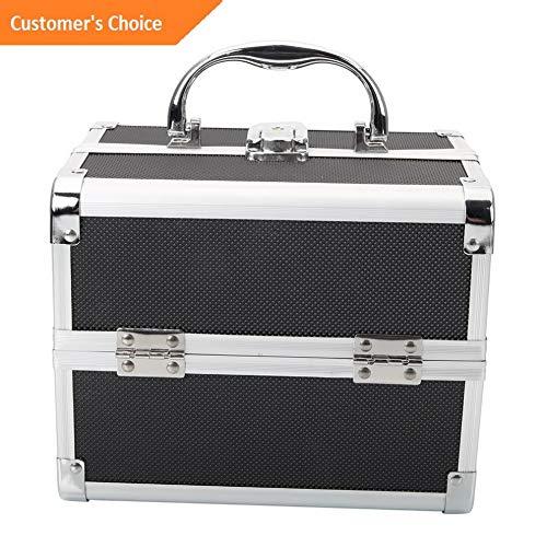 Werrox Pro Aluminum Makeup Organizer Train Case Jewelry Box Cosmetic Storage Lockable | Model MKPRGZR - 233 |