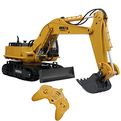 Fistone RC Excavator 11CH 2.4G Alloy Bulldozer Crawler Truck Wireless Backhoe Digger Games Toy Electronic Remote Controlled Vehicle Demo With Lights and Sound Engineering Machinery Car - Wish App Models