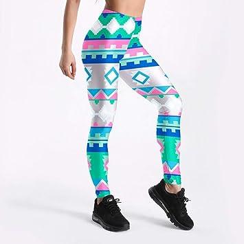 CNANCOO Pantalones Yoga Chica de Color Diamante triángulo ...