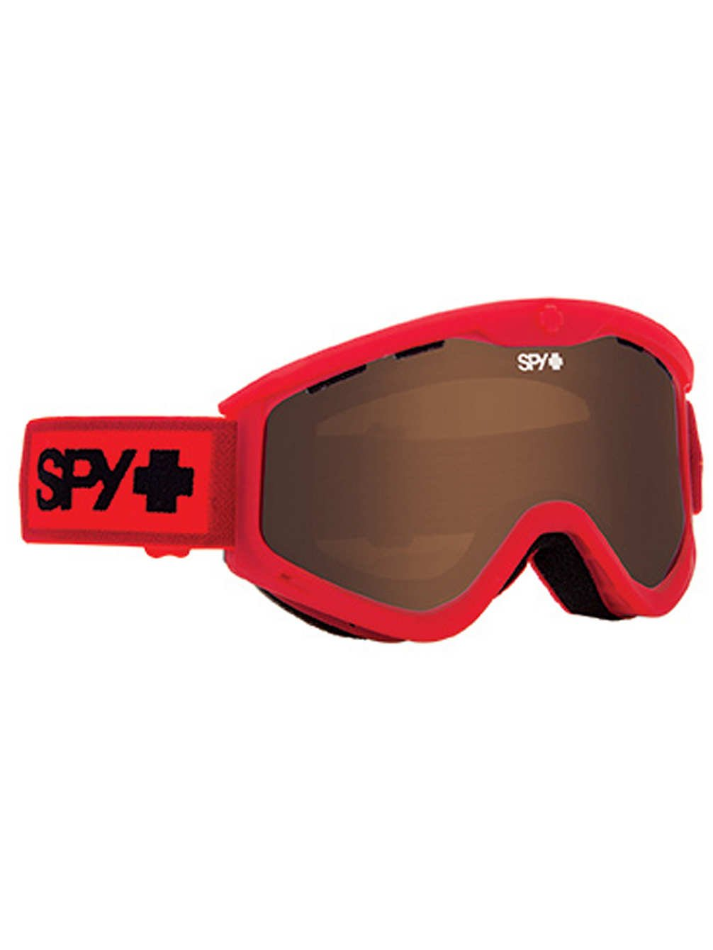 Spy Optic Elemental Red T3 Winter Sport Racing Snowmobile Goggles, Bronze, One Size