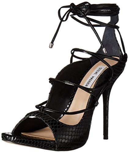 Black Roxie Women's Madden Steve Sandal Dress Snake xZvXn