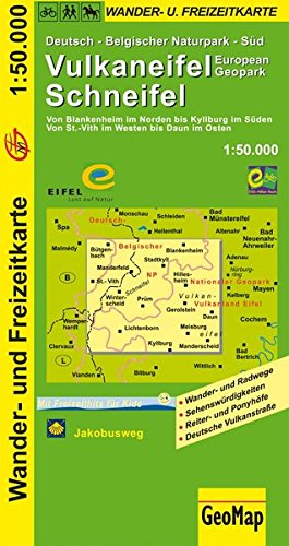 Wanderkarte Vulkaneifel-Schneifel 1:50 000: Wander- und Freizeitkarte (Geo Map)