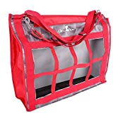 Classic Rope Company Designer Top Load Hay Bag Checker Red