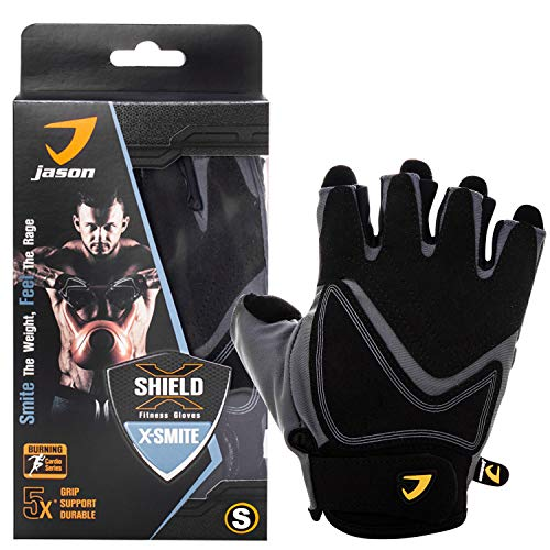 Kuron Store X-Smite Full Palm Protection Anti Slip Fitness Weight Training Gloves