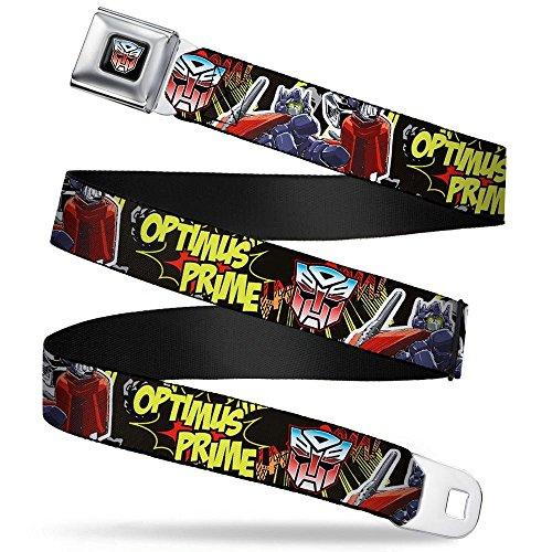 (Buckle-Down Seatbelt Belt - OPTIMUS PRIME Pointing Pose/Autobot Logo Comic Scene - 1.5