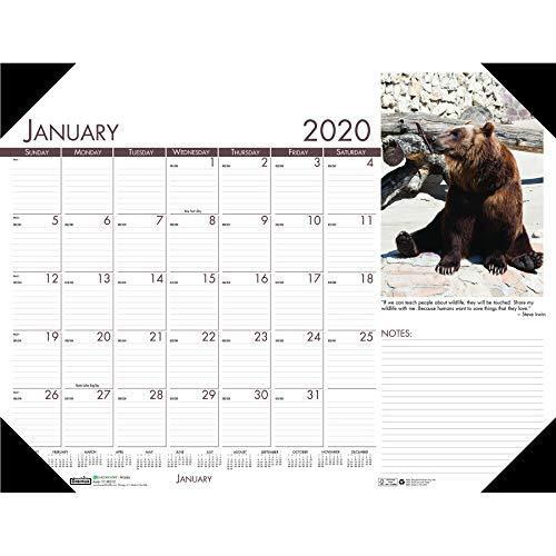 Wildlife Desk Pad Calendar - House of Doolittle 2020 Monthly Desk Pad Calendar, Earthscapes Wildlife, 22 x 17 Inches, January - December (HOD172-20)