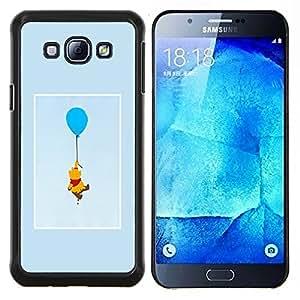 YiPhone /// Prima de resorte delgada de la cubierta del caso de Shell Armor - oso lindo dibujo personaje de dibujos animados - Samsung Galaxy A8 A8000