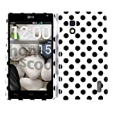 Optimus G, E970 AT&T, Cases/Skins Hard Rigid Plastic, (Black Dots) Cover, For LG Optimus G E970, Glossy Design/Finish Snap New Faceplate Housing Protector - TP1631 AnM