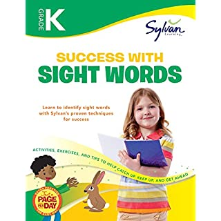 Kindergarten Success with Sight Words Workbook: Letter Tracing, Color Words, Animal Words, Action and Play Words, Counting and Number Words, ... and More (Sylvan Language Arts Workbooks)