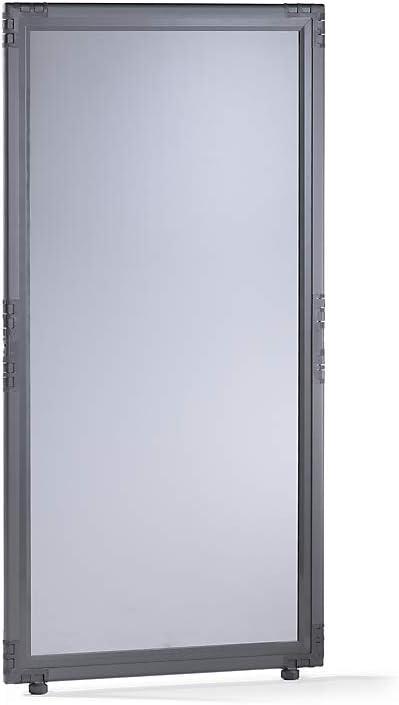 De cristal acrílico biombos – ahumado – heimtexland 650 x 650 mm, marco color gris – Barrera acústica pared acústica paredes paneles para separación habitación División separador habitación divisores para insonorización, aislamiento