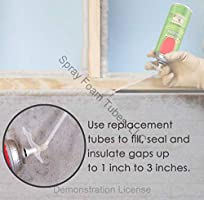 Spray Foam Nozzle Replacement Tubes For Filling Gaps And Holes Clear Pack of 3