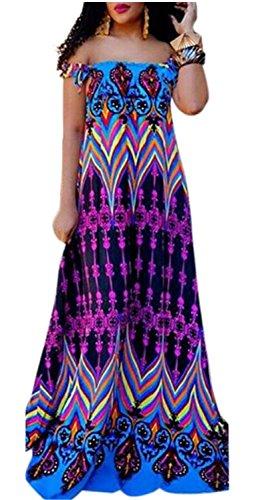 Sleeve Purple Short Off Shoulder Women Dress Floral Sexy Fashion Jaycargogo Aq0SwTx
