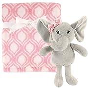 Hudson Baby Plush Blanket & Toy, Pink Elephant