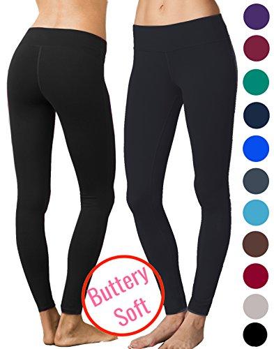 Lush+Moda+Extra+Soft+Leggings+-+Variety+of+Colors+-+Yoga+Waist+-+Black