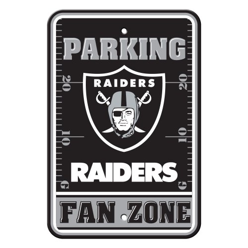 Fremont Die NFL Oakland Raiders Plastic Parking Sign