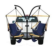 Hammaka 4101-HMKA Trailer Hitch Stand & 2 blue cradles