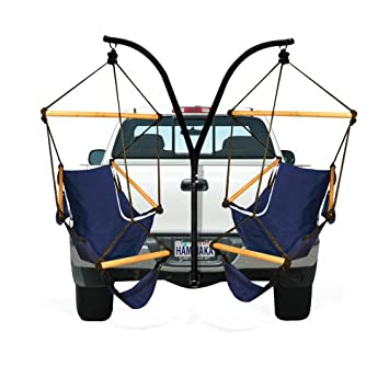Hammaka Trailer Hitch Stand and Cradle Chairs Combo – Blue