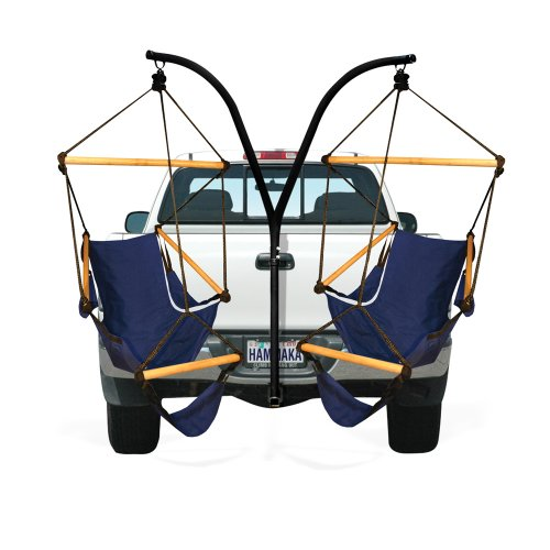 best christmas presents for dad , Hammaka Trailer Hitch Stand and Cradle Chairs Combo - Blue