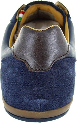 Pantofola dOro Rotella Uomo Low - Zapatillas de piel para hombre azul azul