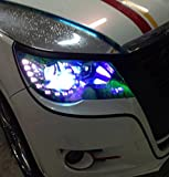 30cm x 120cm Auto Shiny Chameleon Light Headlight Taillight Tint Vinyl Film Sticker(Purple)