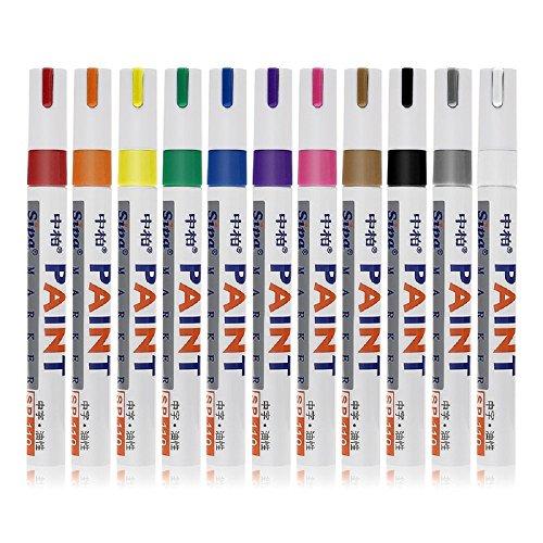 YOUZUO For 12 Pcs Special Fiber Pen Paint Pen Oil Pen DIY Album Graffiti (Oil Album)