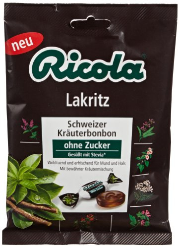 (Ricola Sugar-free Black Licorice/lakritz (6 Bags))