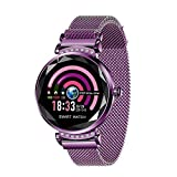 Women Smart Watch, Businda Fishion Fitness Tracker Smartwatch with Blood Pressure Sleep Monitor Period Reminder IP67 Waterproof Smart Bracelet Step Calorie Counter for Kids Boys and Girls, Purple