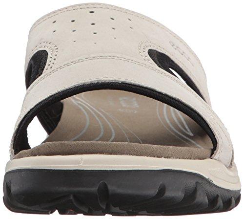Ecco Dames Offroad Lite Slippers Ivoor (gravel / Zwart)