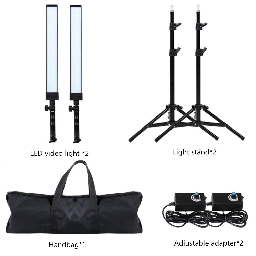 GIJUANRING LED Photography Dimmable Lighting Kit, 5600K Photo Studio Led Light Kit with Tripod Stand for Portrait Video and Shooting