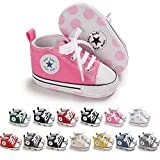 Save Beautiful Baby Girls Boys Canvas Sneakers Soft Sole High-Top Ankle Infant First Walkers Crib Shoes