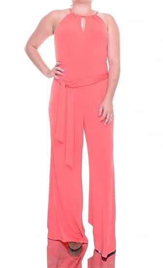 Amazoncom Lauren Ralph Lauren Womens Crepe Keyhole Jumpsuit Orange