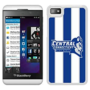 NCAA Central Connecticut State Blue Devils 2 White Popular Custom Design Blackberry Z10 Phone Case