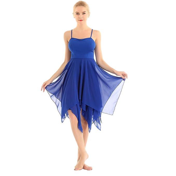 ranrann Vestido Tirantes de Ballet Gasa para Mujer Irregular ...
