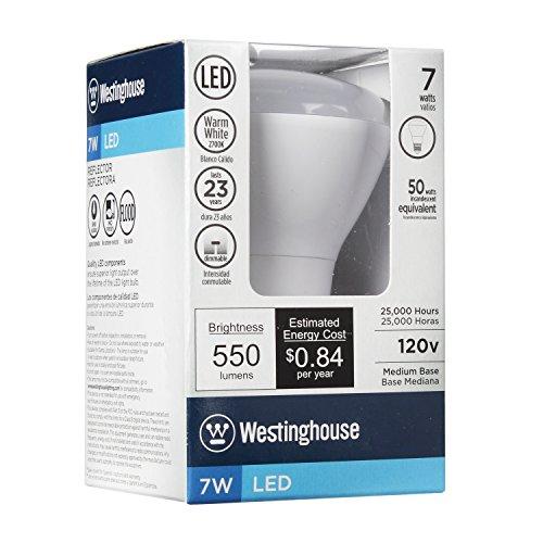 030721330506 - Westinghouse 3305000 7W Reflector Dimmable LED Light Bulb with Medium Base, Warm White carousel main 4