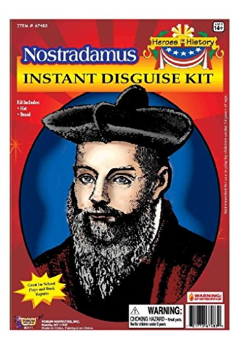 Nostradamus Kids Costumes (Child Heroes in History Instant Disguise Kit - Nostradamus - Hat and Beard)