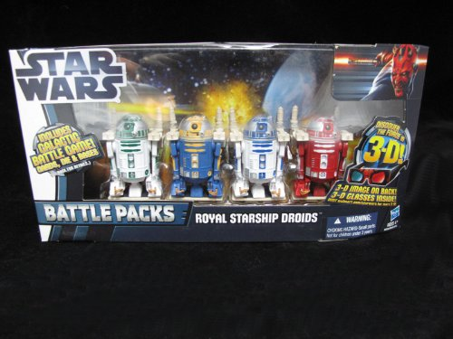 Star Wars 2012 Clone Wars Exclusive Battle Pack Royal Starship Droids R2R9, R... by (Exclusive Battle Pack)
