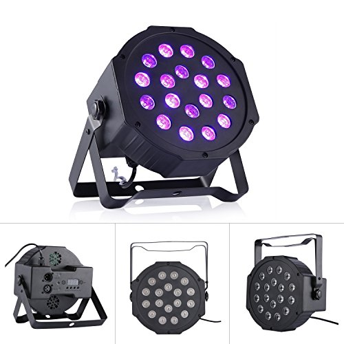 DeepDream 18W UV Black Light DJ Stage Light Par Lamp Auto Lighting Voice Control for Party Wedding Disco Club with Control by Deep Dream (Image #4)
